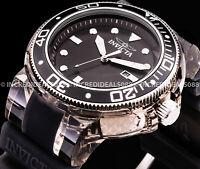 Invicta Grand Pro Diver Anatomic Silver Black SS 52mm Mens Stylish Bold Watch