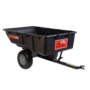 Tow-Behind Poly Utility Cart 17 cu. ft. 850 lb. Weight Capacity Pneumatic Tire