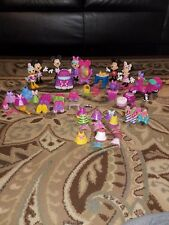 Disney Minnie Mouse Bow-tique snap on dress up dolls LOT 6 Dolls and MORE 56pcs