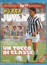 HURRA' JUVENTUS-1992 N.2- BAGGIO-PERUZZI-CARRERA -NO FASCICOLO JUVE