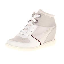 Skechers Skch +3 Hidden Heel Wedge Trainers Ladies UK 6 EU 39 US 9 White/Grey