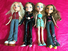 MIXED LOT OF 4 PREVIOUSLY PLAYED WITH BRATZ DOLLS LOT A11