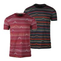 Beautiful Giant Men's T-shirt Crew Neck Full Jacquard Pattern Pocket Tee
