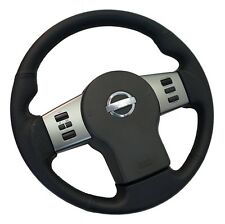 All leather sport grip steering wheel for Nissan Navara D40 perforated leather