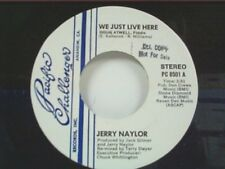 """JERRY NAYLOR """"WE JUST LIVE HERE / I'LL CRY INSTEAD"""" 45 MINT"""