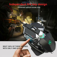 Mechanical Wired USB 6400DPI Adjustable Gaming Mouse  Gamer Mice 9 Keys For PC