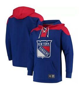 Fanatics Men's NHL NYR New York Rangers Breakaway Lace Up Hoody Hoodie NWT