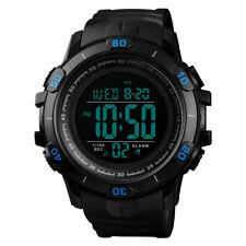 SKMEI Hombres grandes cara Deporte impermeable LED reloj digital alarma militar