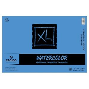 """Canson XL Watercolor Pad (30 sheets - Tape Bound) 12x18"""""""