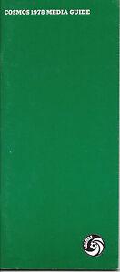 1978 New York Cosmos Media Guide