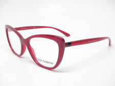 New Dolce & Gabbana DG 5039 1551 Transparent Bordeaux Eyeglasses 52mm Rx-able