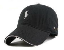 POLO Baseball Cap Embroidery Pony Classic Black Strapback Adjustable Hat