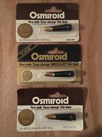 New Old Stock Osmiroid 3 Screw On Nib Units 3 Rola Variations