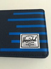 New Mens Herschel Supply Co Roy Bi Fold Blue Street Wallet Card Holder Retail$39