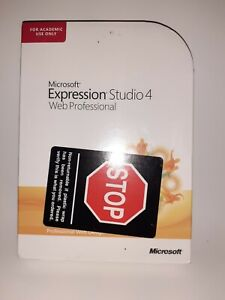 ⭐ Microsoft Office Expression Studio 4 Web Professional Retail Genuine (F4)