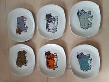 More details for set of 6 beefeater steak plates