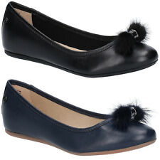 Hush Puppies Heather Puff Classic Loafer Womens Leather Slip On Ballerina Shoes