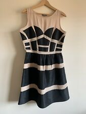 Modern Marks And Spencer Limited Collection Black Nude Ladies Dress Size 12