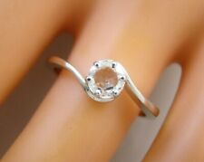 0.40 ct solitaire real diamond engagement  ring 18k  white gold wedding rings