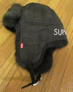 Supreme Script Logos Trooper Hat Size S/M Black FW20 Supreme New York 2020 DS