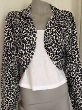 B62:  Citychic Women Top Shrug Leopard Print Plus Size XL Best Fit Size 20-22