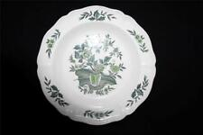 "WEDGWOOD GREEN LEAF SOUP PLATE / SHALLOW BOWL WITH RIM 8.3"" DIAMETER"