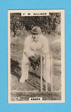 CRICKET - PHILLIPS - RARE CRICKET CARD -  F.  W.  GILLIGAN  OF  ESSEX  -  1924