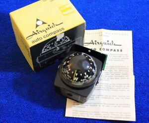 NOS Vintage Airguide Nomad Model 99 Dash Compass & Box Nomad Accessory In Box