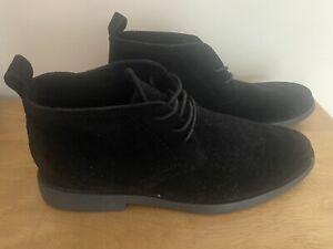 Mens Black Boots Size 9