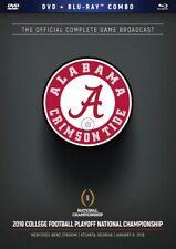 CFP National Championship Game 2018 - Alabama vs. Georgia [DVD+ Blu-ray] NEU NFL