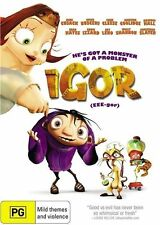 Igor DVD BRAND NEW BEST CHARACTER DESIGN ANIMATED FEATURE FAMILY FILM Eee-gor R4