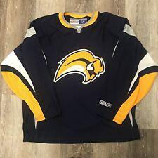 Buffalo Sabres Home Blue Buffaslug Slug CCM Hockey Jersey Size L