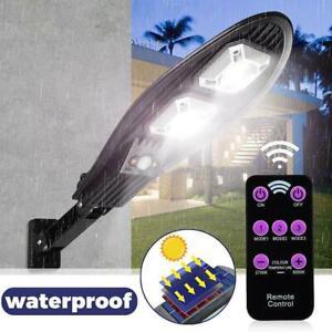 IP65 COB Solar Street Light Wall LED  Motion Powered Outdoor Sensor PIR Garden