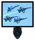 Patriotic Decorative Photo Night Light, Blue Angels, US Navy, Jets