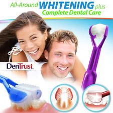 DenTrust WHITE-ON 3-Sided Toothbrush WHITENING Toothpaste Applicator #1-TRENDING