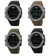 Reloj de pulsera SKMEI Para Hombre Casual LED Digital deportivo de estilo alarma fecha 50m Impermeable