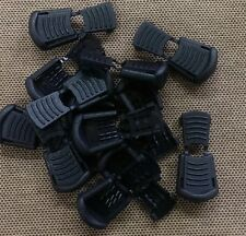 (10) Black Plastic Zipper Pulls Cord Lock Ends Paracord Tactical Tab Repair  #11