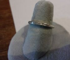 PLATINUM marked channel diamonds band 2 grams size 8 estate wedding anniversary