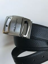 NEW AUTHENTIC REVERSIBLE FERRAGAMO VARA (SILVER OR GREY) BELTS! $475 in Stores