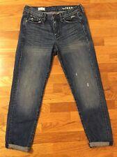 GAP Sexy Boyfriend Cropped Jeans Distressed Women's Size 26 / 2