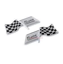 2x Car F1 Flag NISMO Logo Emblems Side Decals Fender Sticker For NISSAN