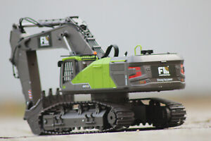 Huina 1593 Bagger grün  Kettenbagger Komplettset RC Spindelmotoren 1:14 1:16 NEU