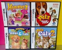 Petz Game Lot Catz 2 Dogz Pack Hamsterz Paws Claws - Nintendo DS DS Lite 3DS 2DS