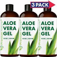 Aloe Vera Gel For Face & Body Moisturizer Skincare 36 oz (3x12oz)