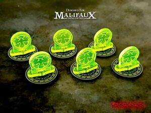 Scheme Tokens / Markers 30mm MAGNETIC (10 Pack) - MALIFAUX M3E - LASERFORGE