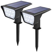 2*Power Solar 7 LED Landscape Spotlight Waterproof&IP65 Outdoor Garden Lawn Lamp