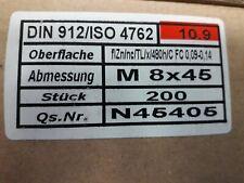 200 Inbus Zylinderkopfschrauben ISO 4762 12.9 schwarz M5x50