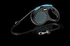 Flexi elastisch Design Hund Cord Leine, mittlere Größe 5m, blau