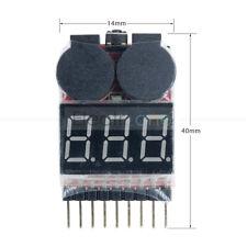 1-8S 2 In1 Indicator Buzzer Alarm Lipo Li-ion Battery Voltage Tester Low Voltage