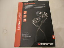 Monster MobileTalk In-Ear Headphones Microphone Black Magnetic Clasp